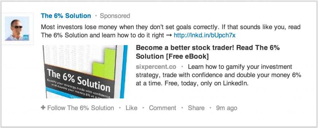 Bild på Sponsored Updates LinkedIn